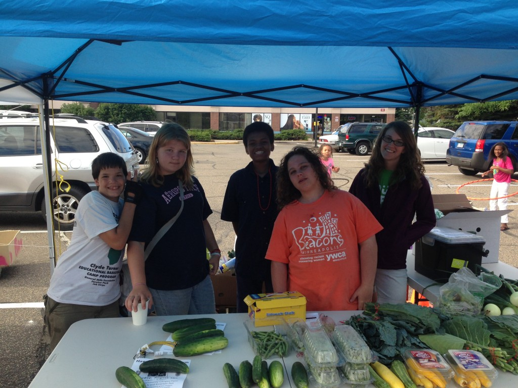 Youth Farmers in the Hawthorne program work at the West Broadway Farmer's Market Friday afternoons. Last week, we sold and made the most money we have ever made at the Farmer's Market!