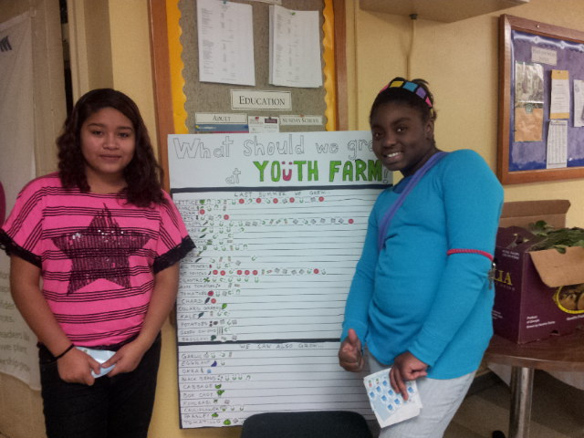 Yajara and Shakira polled the community to find out what we should grow next year