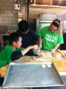 Youth make yummy treats for lunch.